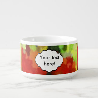 Red green painting bowl