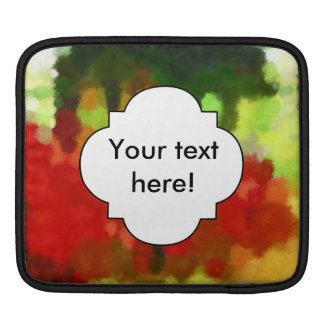 Red green painting iPad sleeve