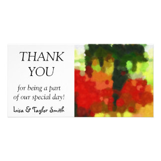 Red green painting photo cards
