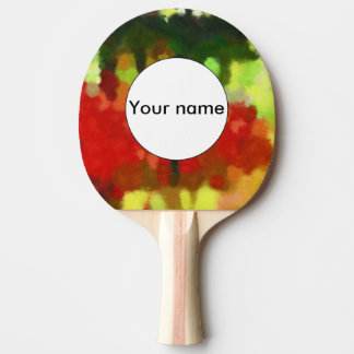Red green painting ping pong paddle