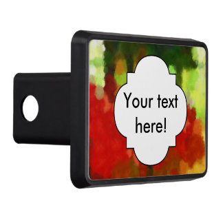 Red green painting trailer hitch cover