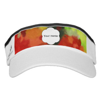 Red green painting visor