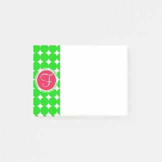 Red & Green Polka Dot Monogram Post-it Notes