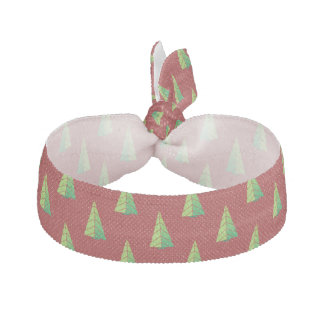 red green, polka dots and christmas trees hair tie