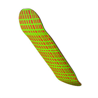 Red/Green Stipes FriedlanderWann Design Skate Board Deck