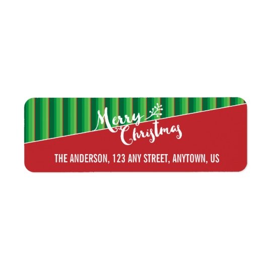 Red & Green Striped Background, Merry Christmas