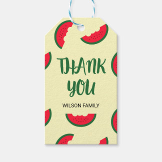 Red Green Sweet Watermelon Thank You Gift Tags
