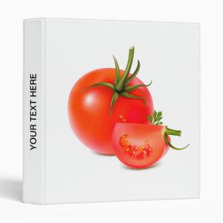 Red Green Tomato Food Art Binders