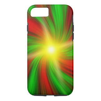 Red & Green Vortex iPhone 7 (Tough) Cover