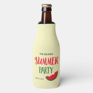 Red Green Watermelon Summer Party Bottle Cooler