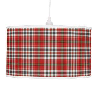 Red Green White Black Tartan Plaid Pendant Lamp