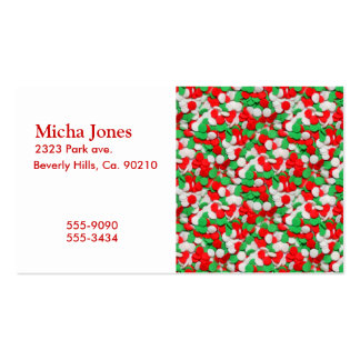 Red Green & White Christmas Sugar Cookies Business Cards
