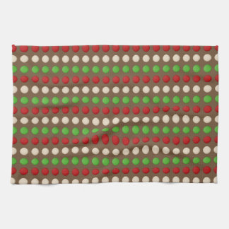 Red Green White Dots Kitchen Towel