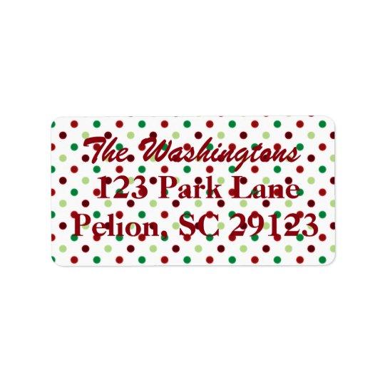 Red Green & White Polka Dot Christmas