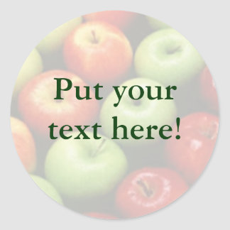 Red Green & Yellow Apples Personalized Canning Lab Classic Round Sticker