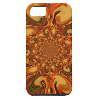 Red green yellow Cool Retro Vintage flowers design iPhone 5 Cover