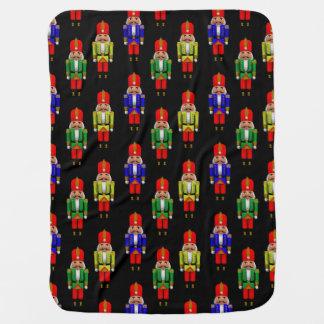 Red Green Yellow Nutcracker Tiled Pattern Baby Blanket