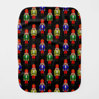 Red Green Yellow Nutcracker Tiled Pattern Burp Cloth