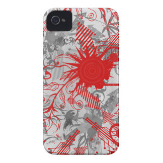 Red grey abstract swirl cool blackberry bold case