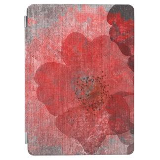 Red Grey Black Grunge Digital Graphic Art Design iPad Air Cover