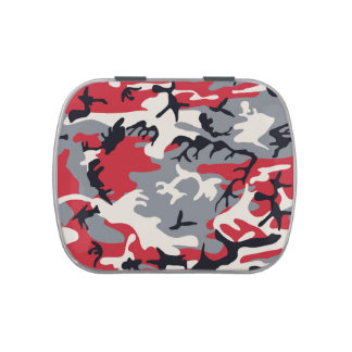 Red Grey Camo Camouflage Pattern