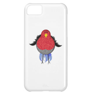 Red & Grey Tweed Goofy Bird iPhone 5C Cases