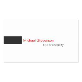 Red Grey White Consultant Business Card
