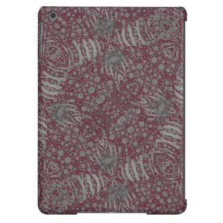 Red Grey Zebra Abstract iPad Air Covers