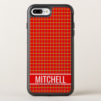 Red Grid Personalized OtterBox Symmetry iPhone 8 Plus/7 Plus Case