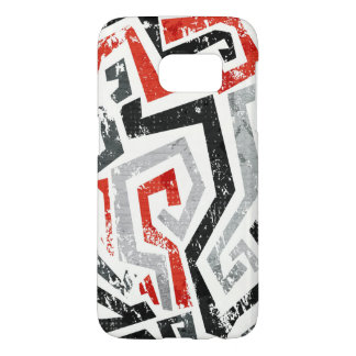 Red Grunge Apple iPhone 7 Samsung case Back Cover
