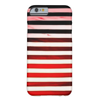 Red Grunge Art Nouveau Stripes Barely There iPhone 6 Case