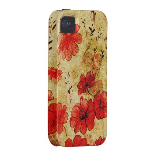 Red Grunge Casemate iPhone 4 Case-Mate iPhone 4 Cover