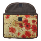 "Red Grunge Floral MacBook 13"" Sleeve For MacBook Pro"