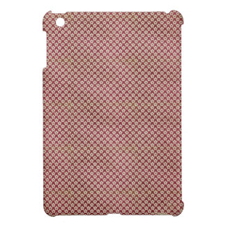 red grunge flower pattern iPad mini covers