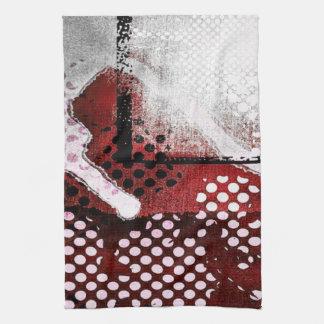 Red Grunge Kitchen Towel