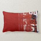 Red Grunge Lumbar Pillow