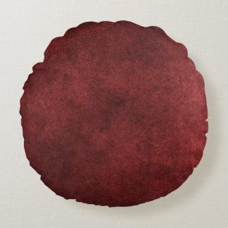 Red Grunge Round Pillow