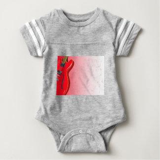 Red Guitar Baby Bodysuit