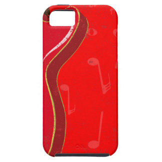 Red Guitar Background Case For The iPhone 5