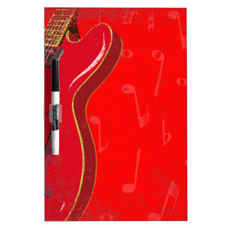 Red Guitar Background Dry-Erase Whiteboards