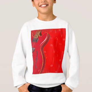 Red Guitar Background Sweatshirt