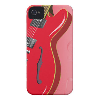 Red Guitar iPhone 4 Cover