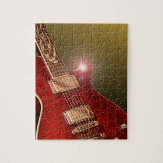 red guitar puzzle