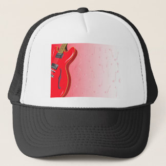 Red Guitar Trucker Hat