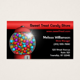 Red Gumball Machine Business Cards