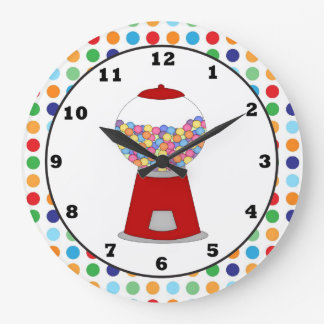 Red Gumball machine wall clock