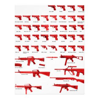 red guns customized letterhead