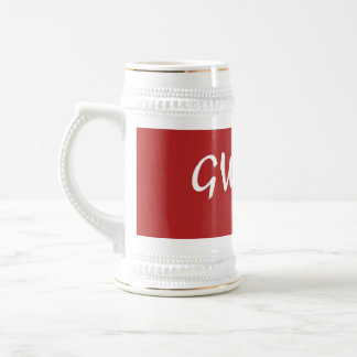 Red gwapa text design cebuano Filipino Tagalog Beer Stein