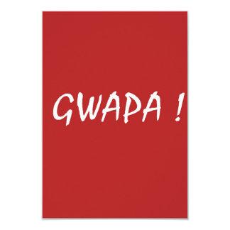 Red gwapa text design cebuano Filipino Tagalog Card