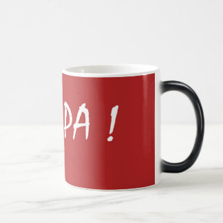 Red gwapa text design cebuano Filipino Tagalog Magic Mug